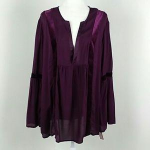 NWT  Xhilaration Purple Boho Tunic Top